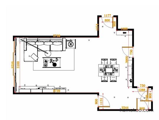 平面布置图贝斯特系列客餐厅G14810