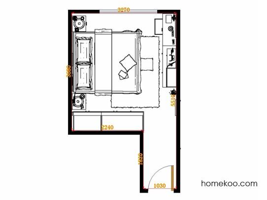 平面布置图斯玛特系列卧房A14727