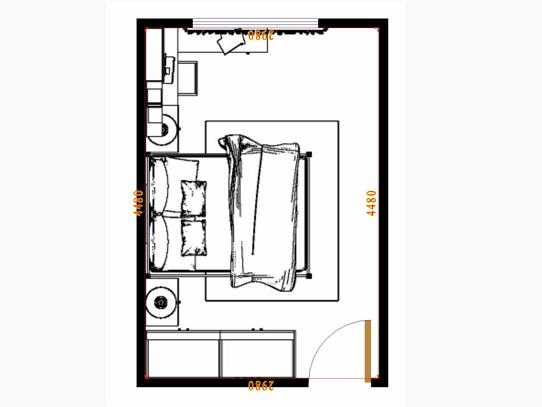 平面布置图格瑞丝系列卧房A14742