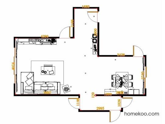 平面布置图格瑞丝系列客餐厅G14824