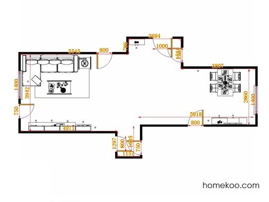 平面布置图柏俪兹系列客餐厅G14832