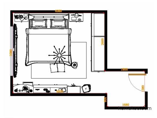 平面布置图格瑞丝系列卧房A14768