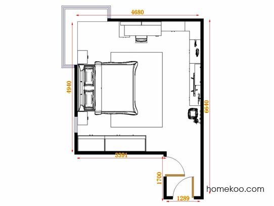 平面布置图格瑞丝系列卧房A14769