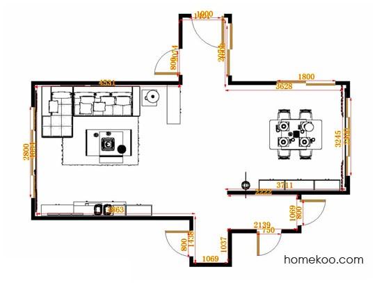 平面布置图贝斯特系列客餐厅G14856