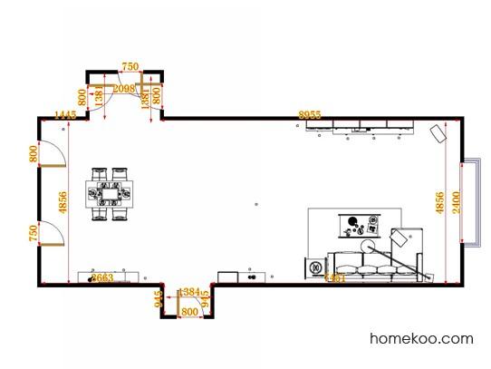 平面布置图柏俪兹系列客餐厅G14862