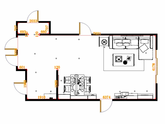 平面布置图柏俪兹系列客餐厅G14868
