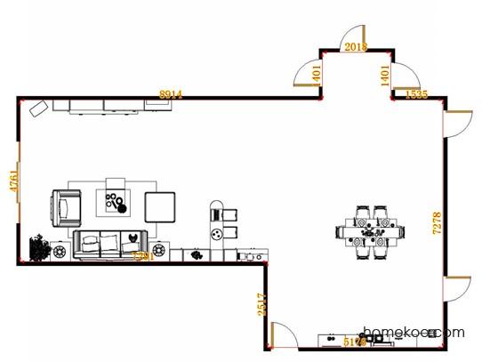 平面布置图格瑞丝系列客餐厅G14880