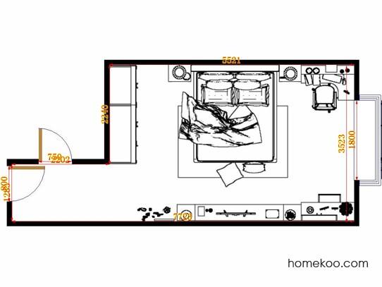 平面布置图斯玛特系列卧房A14821