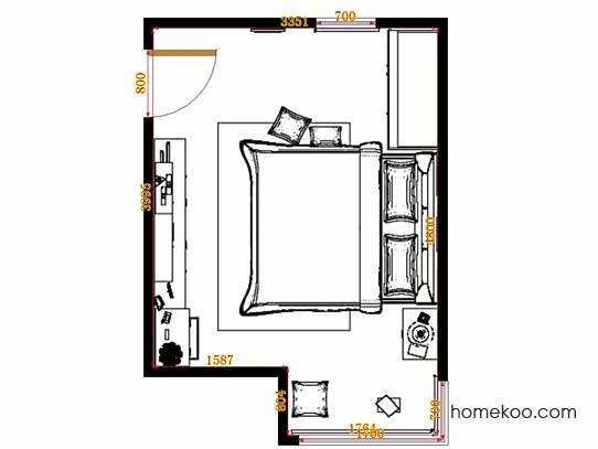 平面布置图贝斯特系列卧房A14829