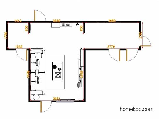 平面布置图贝斯特系列客厅D14154