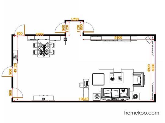 平面布置图格瑞丝系列客餐厅G14934