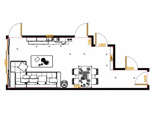 平面布置图柏俪兹系列客餐厅G14948