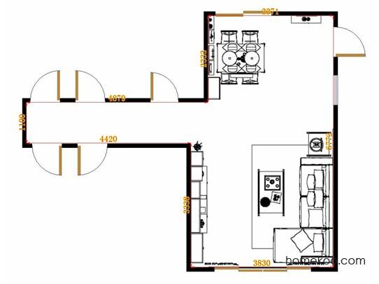 平面布置图斯玛特系列客餐厅G14960