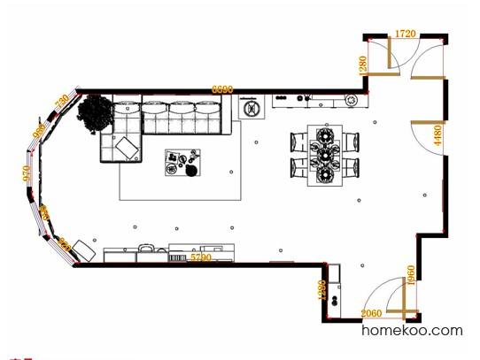 平面布置图乐维斯系列客餐厅G14966