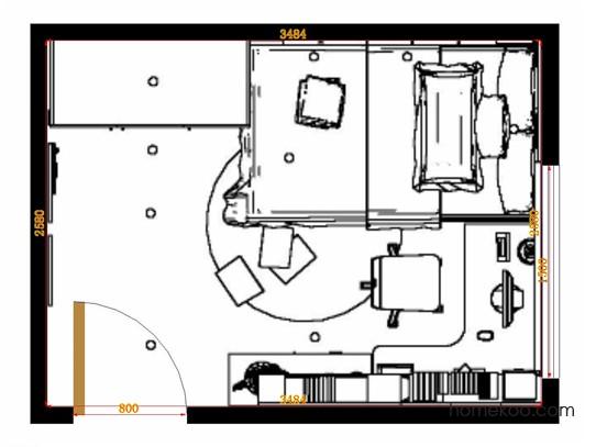 平面布置图乐维斯系列青少年房B12656