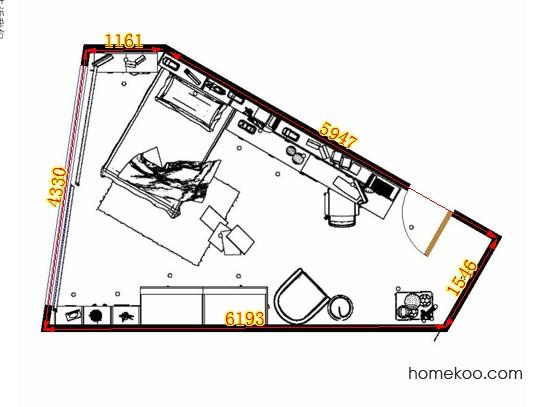平面布置图斯玛特系列青少年房B12665