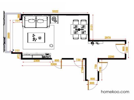 平面布置图斯玛特系列客餐厅G14985