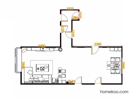 平面布置图德丽卡系列客餐厅G14987