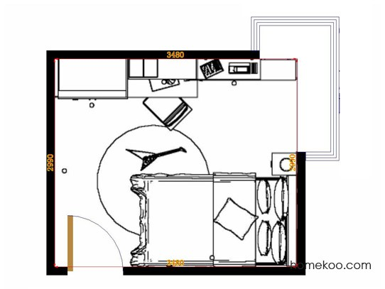 平面布置图乐维斯系列青少年房B12676