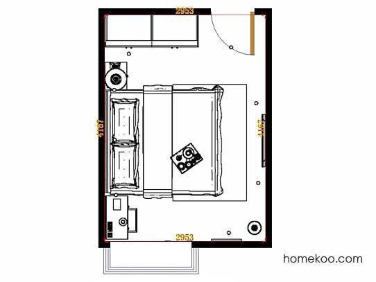 平面布置图贝斯特系列卧房A14918