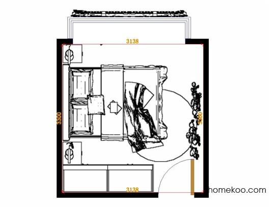 平面布置图德丽卡系列卧房A14919