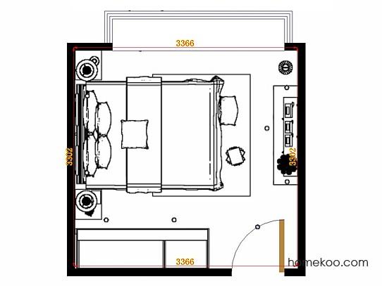 平面布置图柏俪兹系列卧房A14923