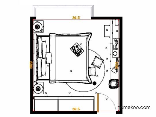 平面布置图斯玛特系列卧房A14931