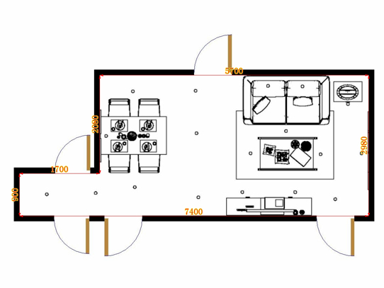 平面布置图贝斯特系列客餐厅G15016