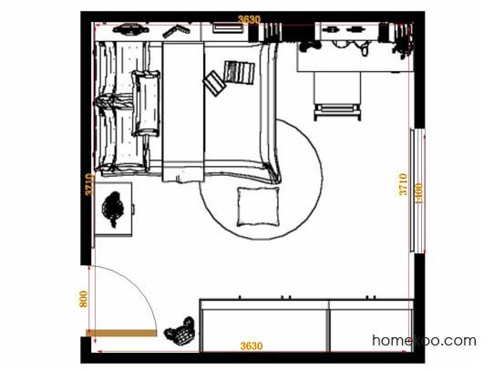 平面布置图斯玛特系列青少年房B12723
