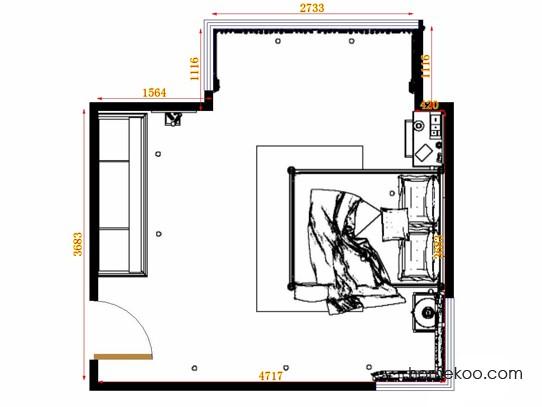 平面布置图乐维斯系列卧房A14940