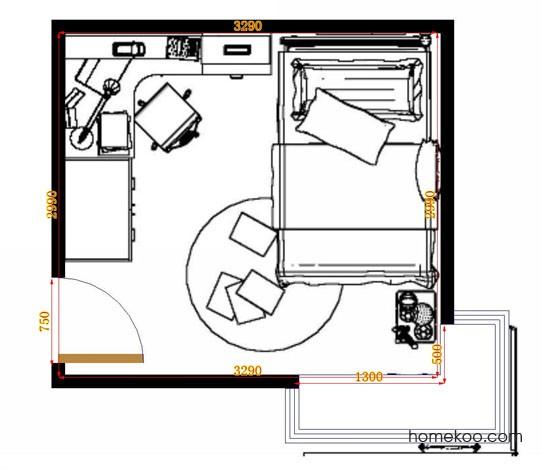 平面布置图贝斯特系列青少年房B12734