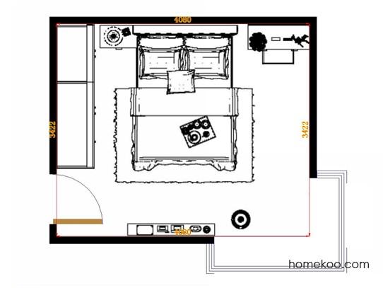 平面布置图乐维斯系列卧房A14964
