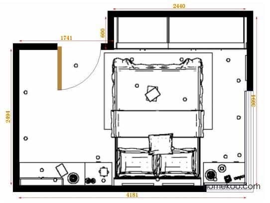 平面布置图乐维斯系列卧房A14965