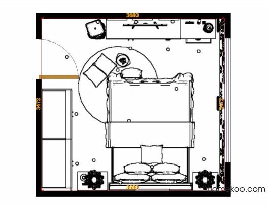 平面布置图贝斯特系列卧房A14973