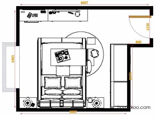 平面布置图斯玛特系列卧房A14978