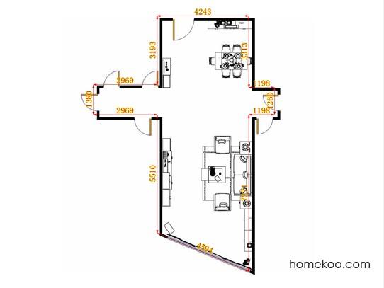 平面布置图格瑞丝系列客餐厅G15043