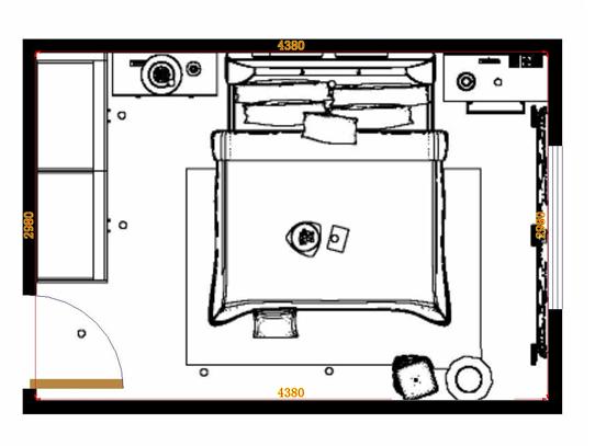 平面布置图格瑞丝系列卧房A15005