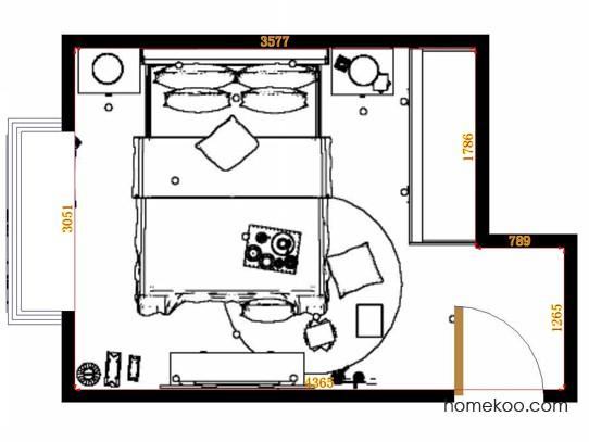 平面布置图斯玛特系列卧房A15015