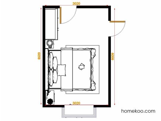 平面布置图乐维斯系列卧房A15022