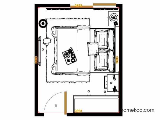 平面布置图柏俪兹系列卧房A15027