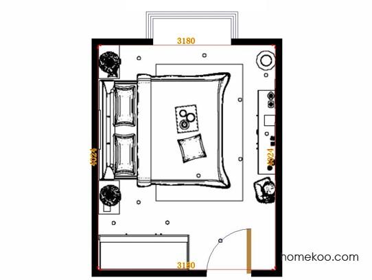 平面布置图格瑞丝系列卧房A15033