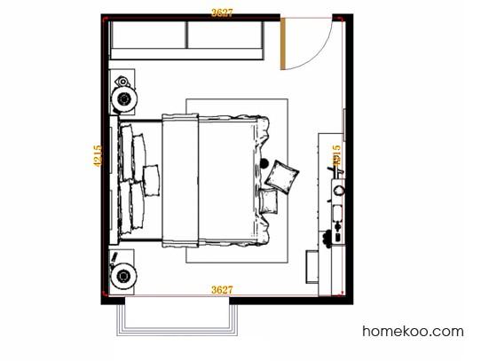 平面布置图斯玛特系列卧房A15038