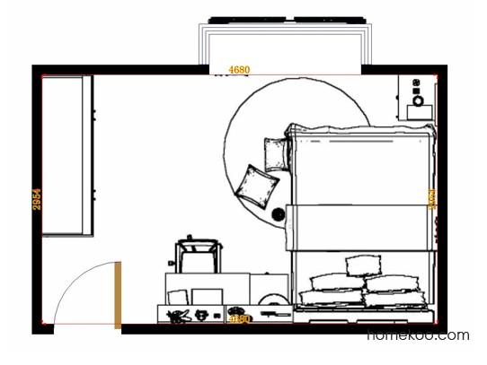 平面布置图乐维斯系列卧房A15040