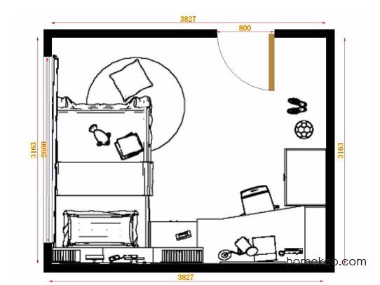 平面布置图乐维斯系列青少年房B12796