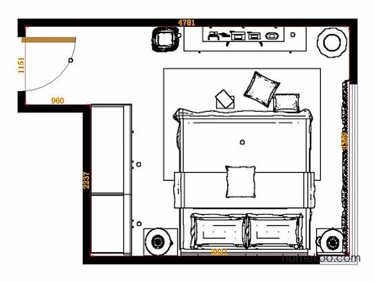 平面布置图斯玛特系列卧房A15054