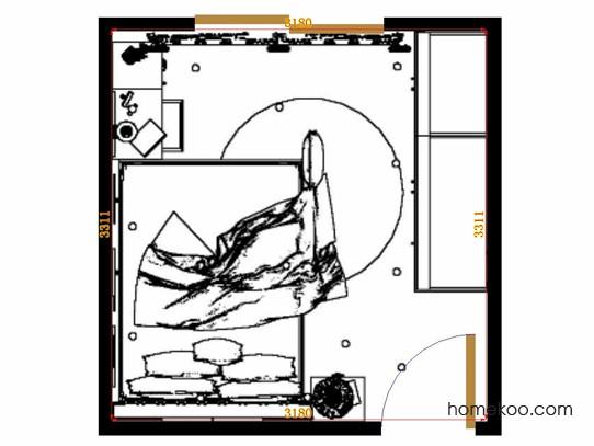 平面布置图柏俪兹系列卧房A15077
