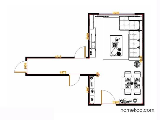 平面布置图贝斯特系列客餐厅G15093