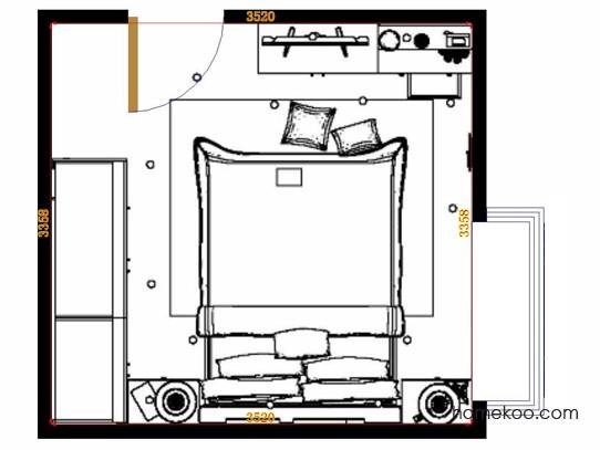 平面布置图乐维斯系列卧房A15081