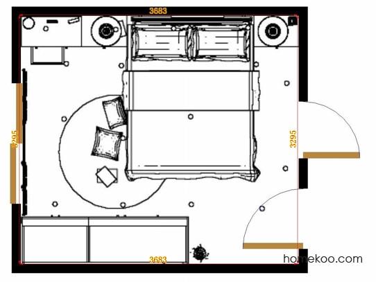 平面布置图米兰剪影卧房A15102