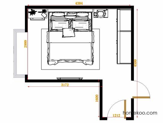 平面布置图米兰剪影卧房A15108